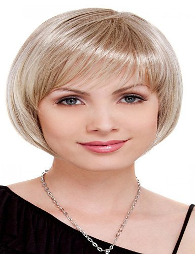 Wigs have an attractive convenience fashion Capless Short Bleach Blonde Wavy Synthetic Wigs (Halloween Costumes Houston Stores)