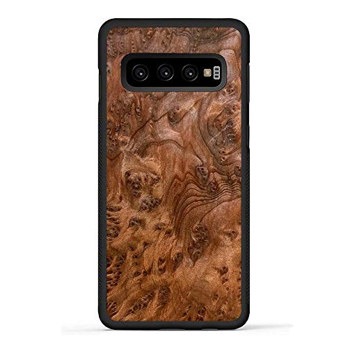 Carved | Galaxy S10 | Luxury Protective Traveler Case | Unique Real Wooden Phone Cover | Rubber Bumper | Redwood Burl