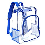 Heavy Duty Transparent Clear Backpack See Through Backpacks for Work, School, Sports, Security Travel
