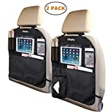 Ohuhu Kick Mats Car Backseat Organizer, 2-Pack XL Baby Child Kids Auto Back