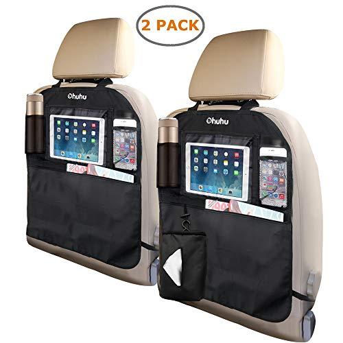Find Cheap Ohuhu Kick Mats Car Backseat Organizer, 2-Pack XL Baby Child Kids Auto Back of Seat Prote...