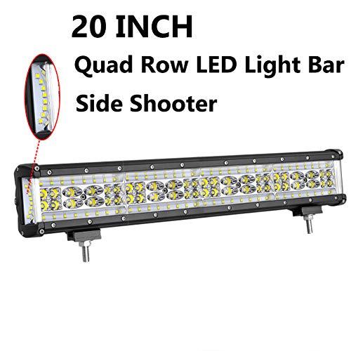 LED Light Bar, Moso LED 20 inch 320W LED Side Shooter LED Spot Flood Combo Light LED Driving Light LED Fog Lamp Work light for Truck Jeep Off Road ATV SUV