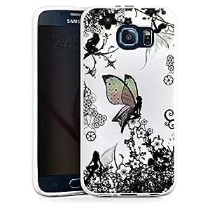 Carcasa Design Funda para Samsung Galaxy S6 Silicone Case white - Elfenland