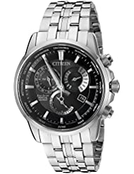 Citizen Mens Eco-Drive Perpetual Calendar Watch with Month/Day/Date, BL8140-55E