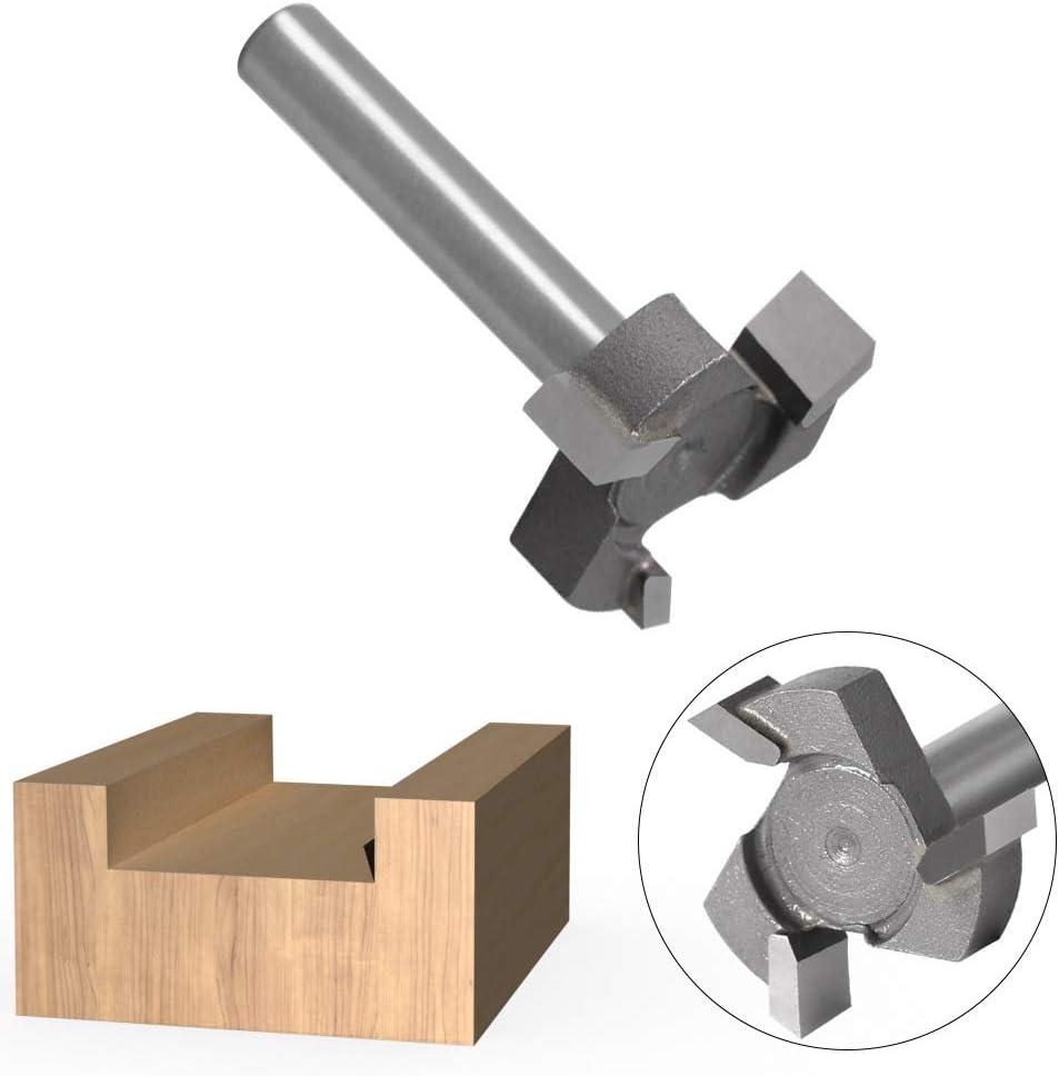 TToplife CNC Spoilboard Oberfl/äche Fr/äser Bit Platten-Flachfr/äser Fr/äser Hartmetall-Hobelfr/äser Fr/äser f/ür Holz 6mm Schaft T-Form Holz Fr/äser Hobelwerkzeug