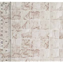 Miniature Square White Marble Tile Flooring