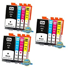 12PK Compatible HP 934XL 935XL New Black and Color inkjet Set forHP Officejet 6812/6815/6230/6830/6835