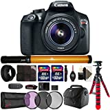 Canon EOS Rebel T6 Digital SLR with 18-55mm IS II Lens , LED Tube Light and Accessories
