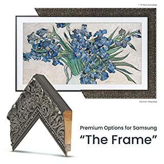"Deco TV Frames - Tuscan Silver Frame Custom for Samsung The Frame TV (43"")"