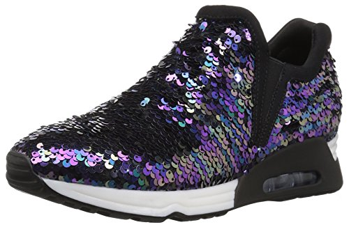 The Fix Women's Luca Slip-on Sequin Jogger Sneaker, Black/Multi, 8 B US