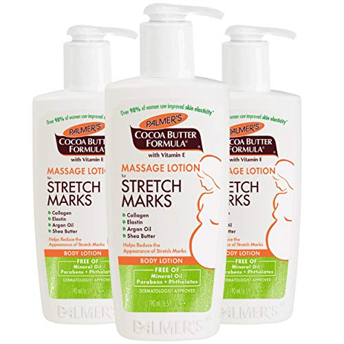 Palmer's Cocoa Butter Formula Massage Lotion for Stretch Marks & Pregnancy Skin Care, 6.5 oz (Pack of 3)