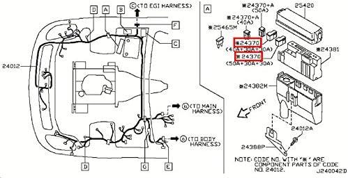 Amazon.com: Infiniti Genuine Wiring Fuse Fusible Link Connector Assy  24370-C9907 G35: AutomotiveAmazon.com