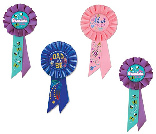 Mom to Be Pin, Dad to Be Pin, Grandma to Be Pin Or Ribbon - Decorations for Baby Shower Or Hospital - Dad Pin