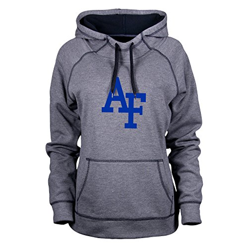 Ouray Sportswear NCAA Air Force Falcons Women's Transit Hood, Charcoal Heather/Black, Large (Charcoal Force Air Falcons)