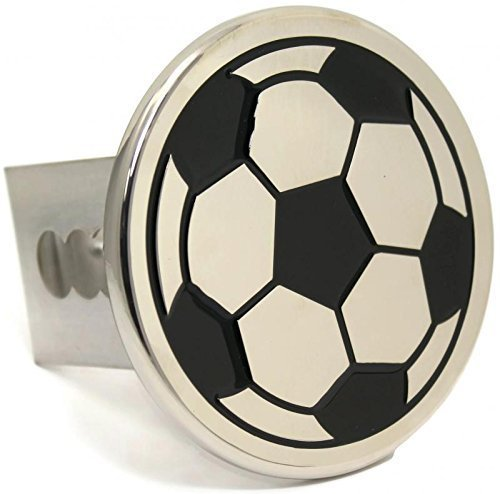 Soccer Ball Chrome Trailer 2 Hitch Plug Cover Cap Stainless Steel Au-Tomotive Gold INC 4333192594