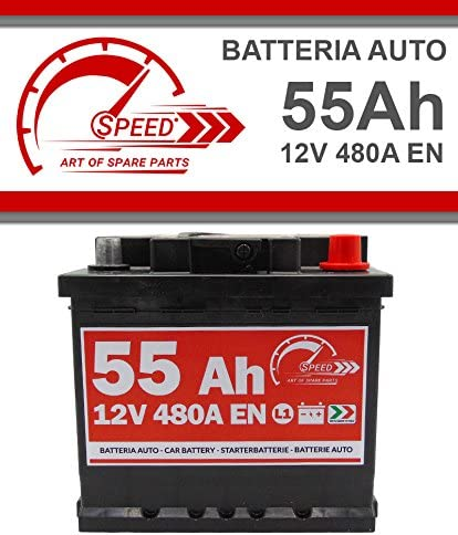 Batterie Auto Original Speed by SMC Code 7903430 L155 12 V 55 Ah 480 A en mit Pluspol RECHTS