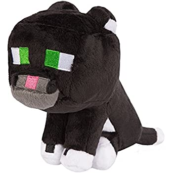 JINX Minecraft Tuxedo Cat Plush Stuffed Toy (Multi-Color, 8
