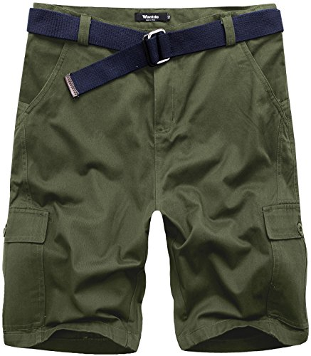 Wantdo Solid Belted Cargo Shorts product image