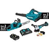 Makita Makita XT276PTX 18V X2 (36V) LXT Lithium-Ion Brushless 2-Pc. Combo Kit (5.0Ah) & Brushless Angle Grinder