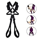 Utimi Sex Swing Fetish Fantasy SM Swing with Handlebar Thigh Cuffs for Couples Hanging
