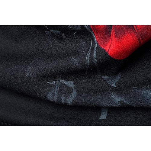 Beret Los Autumn Cómodo De Chaquetas Cardigan Poliéster Spring Battercake Zipper Béisbol 3D con Fashion Schwarz Jacket Chaqueta Hombres De Print Corchete De qEwfxTzO