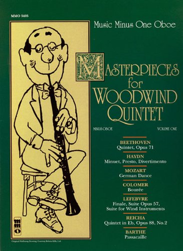 Masterpices for Woodwind Quintet - Volume One: Music Minus One Oboe
