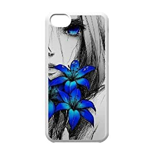 Personalized New Print Case for iPhone 5 5s, Art Design Of Girl Phone Case - HL-R5 5s74113