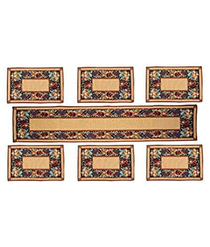 Avioni Cotton Table Mats with Runner - Set of 7