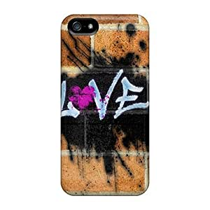 Premium Love Graffiti Heavy-duty Protection Case For Iphone 5/5s