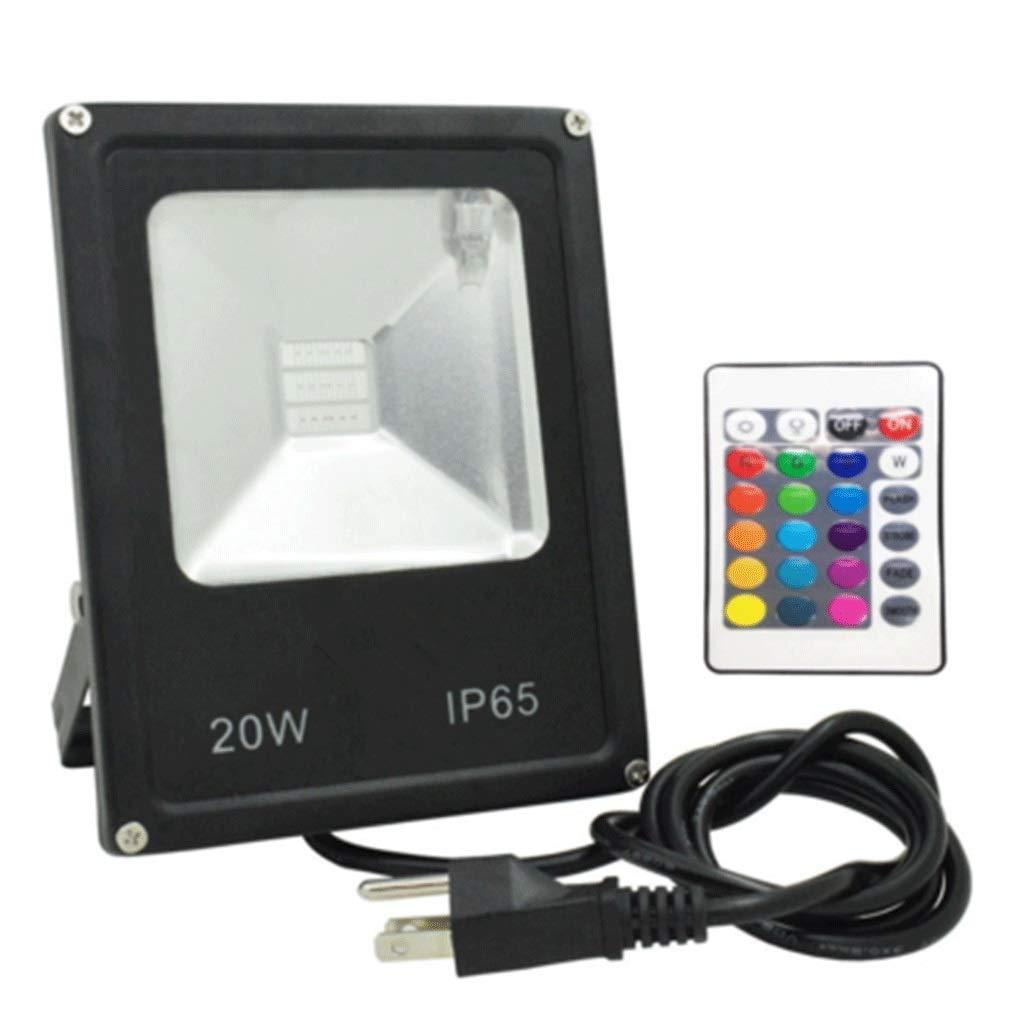 20W RGB Flutlicht Mit Fernbedienung Dimmer Farbwechsel Zum Licht IP65 Wasserdicht