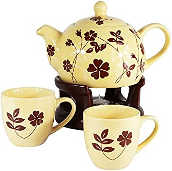 Wamat Teekanne St/övchen Set Teetassen au/ßergew/öhnlich schlicht modern Design Neu Modell: 2