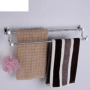 lovely Solid brass Towel rack/Towel shelf /Double bar double Towel Bar/Bathroom hardware accessories/hooked longer-B