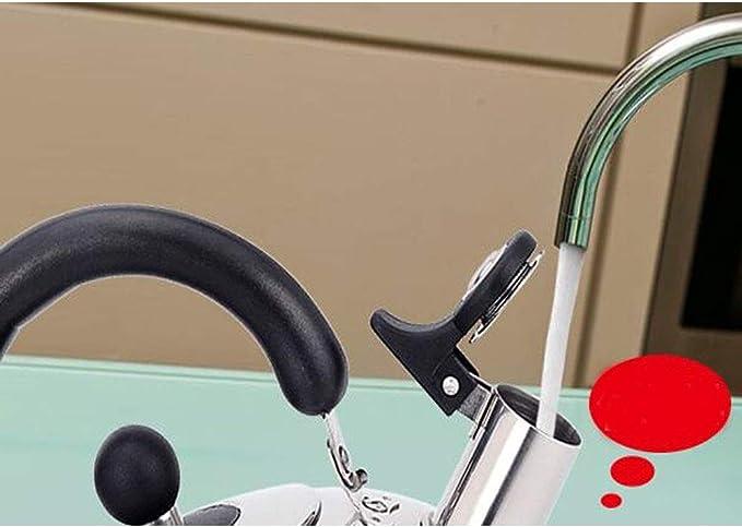 Jiansheng01 Elija una magnífica tetera - Whistle My Tetera de acero inoxidable 304 más hirviendo más rápido opcional - Plata 4L Practico, (Capacity : 4L, Color : Silver): Amazon.es: Hogar