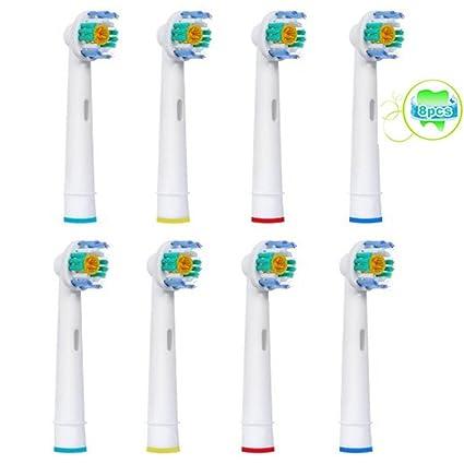 8 piezas (2x4) Sohv® Cabezales de recambio para cepillo de dientes eléctrico Oral