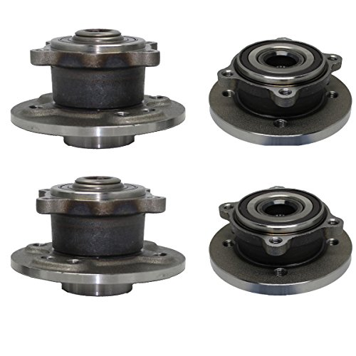 Detroit Axle - Front & Rear Wheel Bearing and Hub Assembly Set for 2002 2003 2004 2005 2006 Mini Cooper w/Production Date Before 4/06 - 12mm Wheel Bolt (Axles Mini Set)