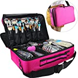 Professional Makeup Train Case Cosmetic organizer Make Up Artist Box 2 layer Large size 16.54