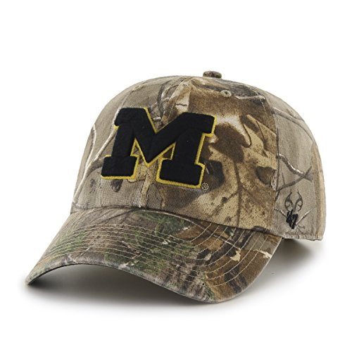 NCAA Michigan Wolverines '47 Big Buck Clean Up Camo Adjustable Hat, One Size Fits Most, Realtree Camouflage - Michigan Wolverines Camo