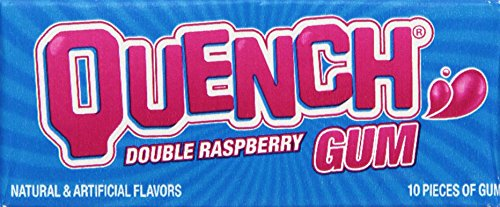 Double Raspberry - Quench Gum, Double Raspberry, 10 Count, (12 Pack)