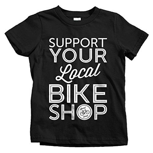 Smash Transit Kids Support Your Local Bike Shop T-Shirt - Black