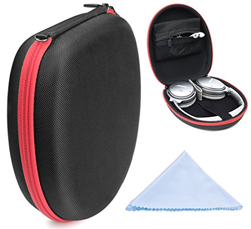 WGear Protective Case for Sony XB950N1, XB950B1, XB950AP, XB650BT, MDR-1000X, MDR-100AAP, MDR-100ABN, ZX770NC, ZX770BN, ZX770, Removable Cable & Amplifier Pouch, Elastic Security Strap -