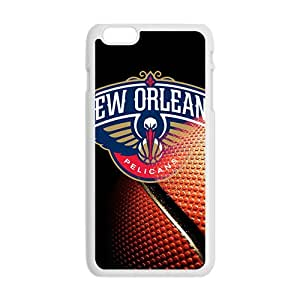 New Orleans Pelicans NBA White Phone Case for iPhone plus 6 Case
