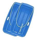 Slippery Racer Downhill Sprinter Snow Sled (2 Pack), Blue