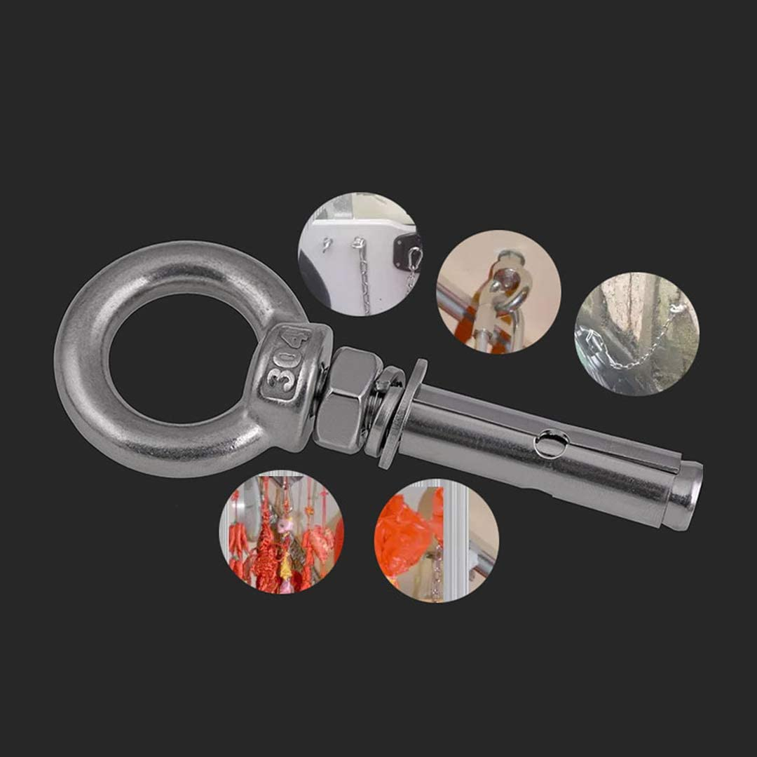 304 Stainless Steel Ring Lifting Expansion Eyebolt XIZONLIN M12 Expansion Bolt