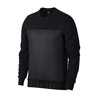 6267a5794c9f Jordan Sweater - Flight Fleece AJ 11 Hybrid Black Black Size  L (Large)   Amazon.co.uk  Clothing