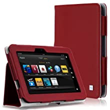 CaseCrown Bold Standby Case (Red) for Amazon Kindle Fire HD 8.9 Inch (Built-in magnet for sleep / wake feature...