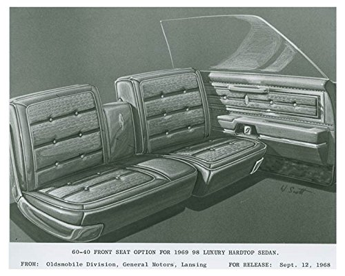 Hardtop Seat - 1969 Oldsmobile 98 Front Seat Option Luxury Hardtop Sedan Photo Poster