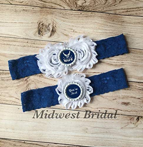 Air Force Wedding Garter: Amazon.com: Air Force Wife Custom Blue Lace Wedding Garter