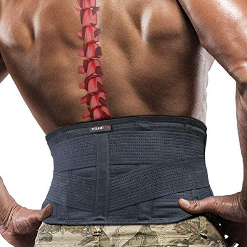 Back Brace for Lower Back Pain Relief, Adjustable Lower Back Support Brace for Men and Women, Comfortable Lumbar Support Belt with Breathable Mesh for Sciatica, Scoliosis and Herniated Disc (Medium)