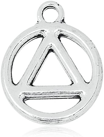 PEACE Pendant Necklace Inspirational Symbolic Made with a Tierracast Charm in Antique Black