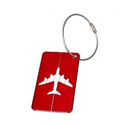 Forfar etiqueta del equipaje aviones Acero inoxidable colorido Viajes planos del aeroplano Equipaje protector durable equipaje